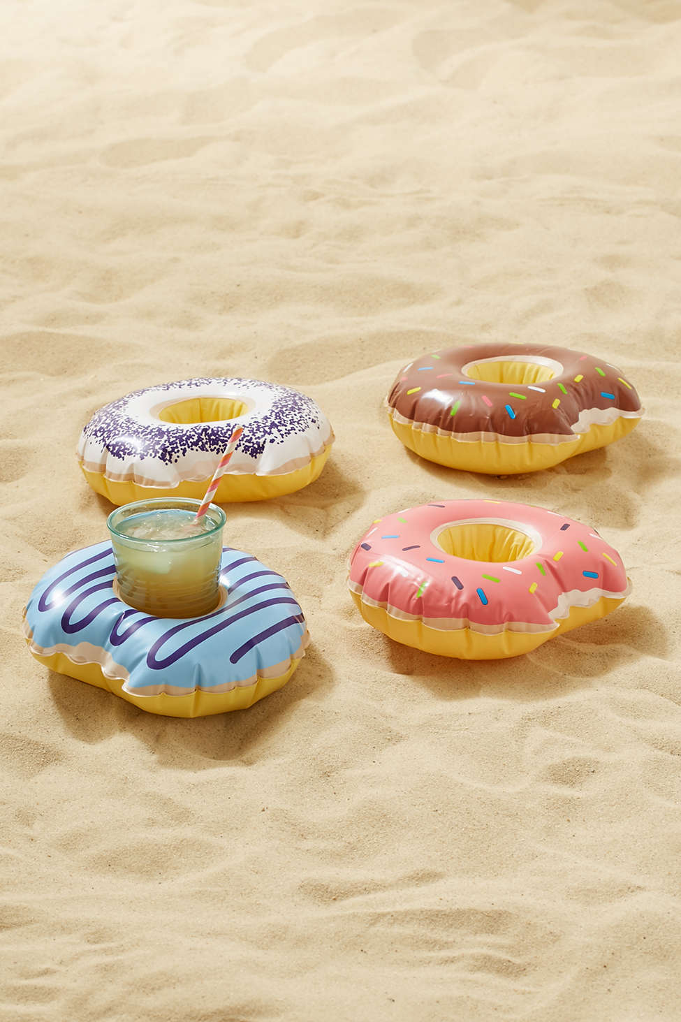 Floating donut drink holders