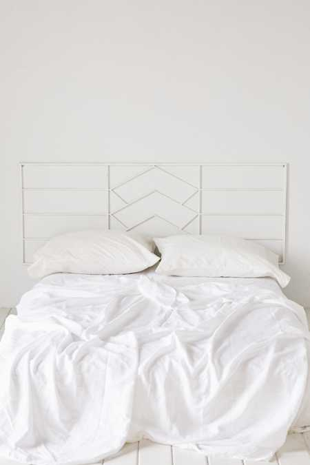 Chevron Metal Headboard