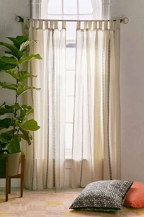 Chunky Embroidery Curtain,CREAM,52X84