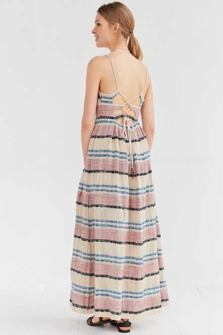 Ecote Rustica Striped Maxi Dress
