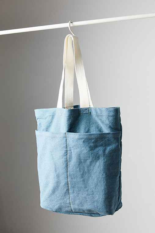 BDG Two Pocket Tote Bag,BLUE,ONE SIZE