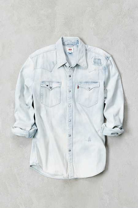 Levi's Barstow Repair Denim Western Shirt