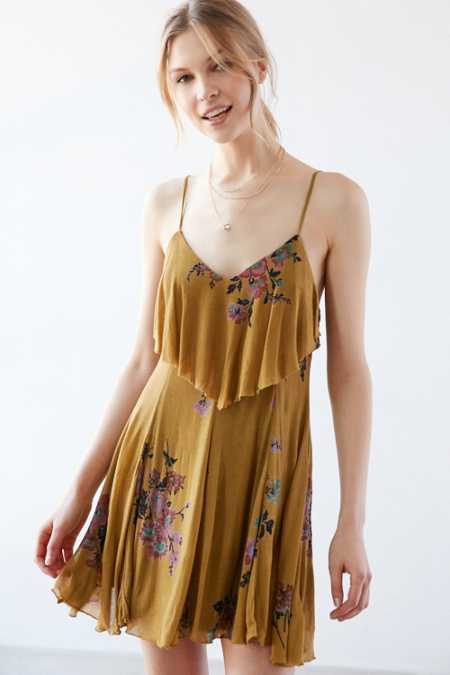 Ecote Mustard Seed Ruffle-Neck Knit Dress