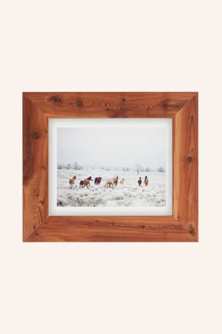 Kevin Russ Winter Horses Art Print