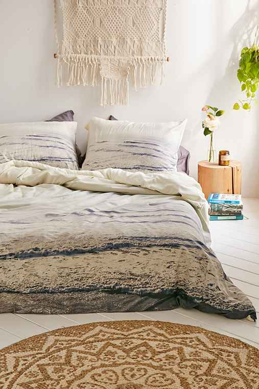 Chelsea Victoria For DENY Smash Into You Duvet Cover,GREY,FULL/QUEEN