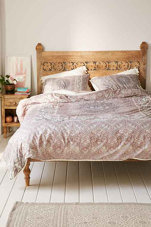 Aimee St Hill For DENY Farah Squared Duvet Cover,NEUTRAL,FULL/QUEEN