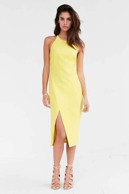 Bardot Cara Asymmetrical Hem Midi Dress