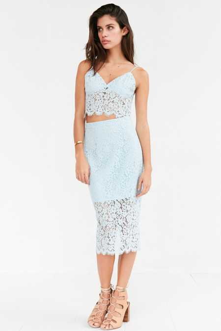 Bardot Sienna Lace Set Midi Skirt