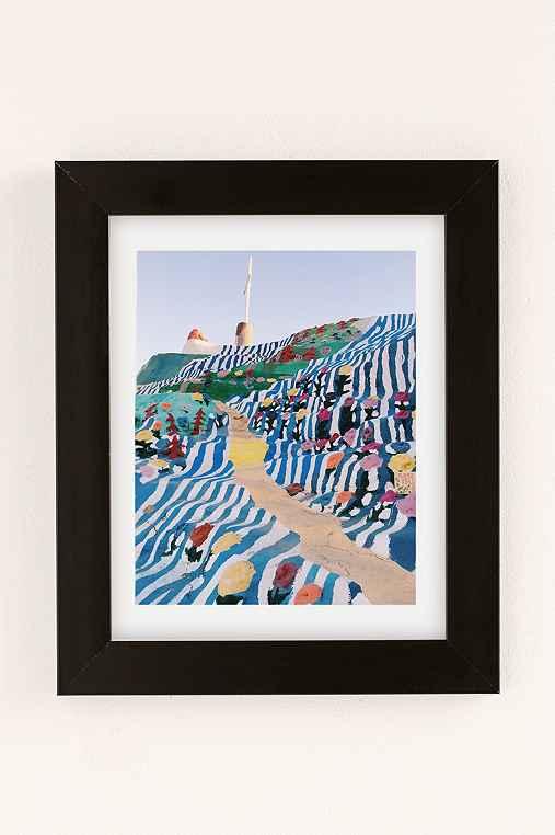 Kevin Russ Salvation Staircase Art Print,BLACK MATTE FRAME,18X24