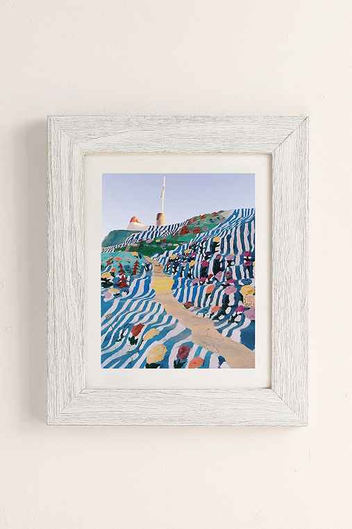 Kevin Russ Salvation Staircase Art Print,WHITE BARNWOOD,13X19