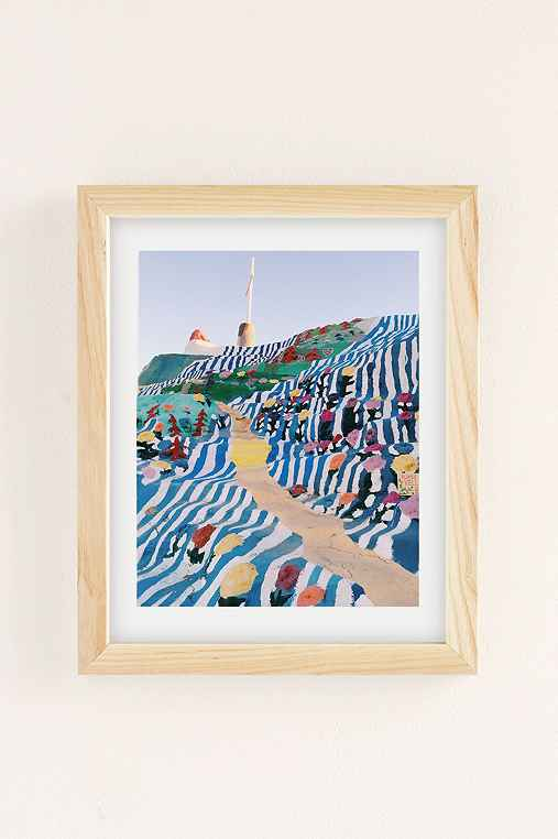 Kevin Russ Salvation Staircase Art Print,NATURAL WOOD FRAME,18X24