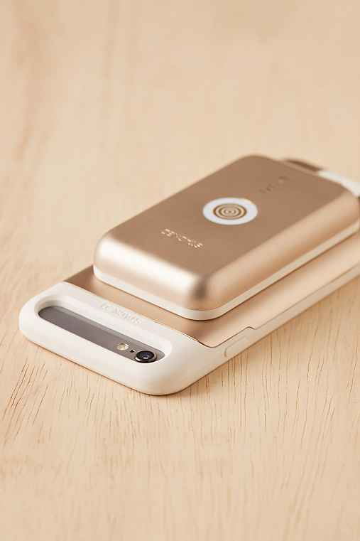 Stacked iPhone 6/6s Wireless Charging Kit With Portable Power,GOLD,ONE SIZE