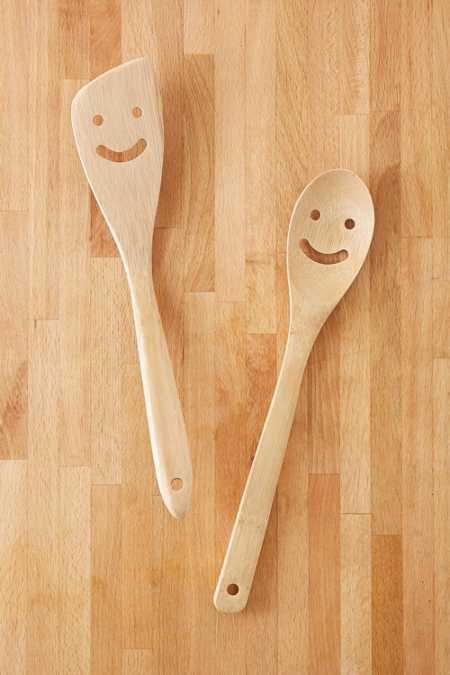 Bamboo Smile Serving Utensil Set