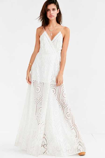 The Jetset Diaries Santa Fe Eyelet Maxi Dress