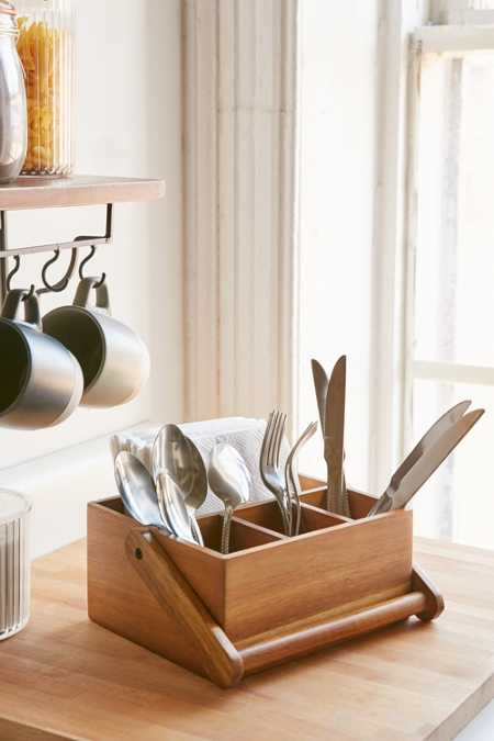 Bamboo Utensil Caddy