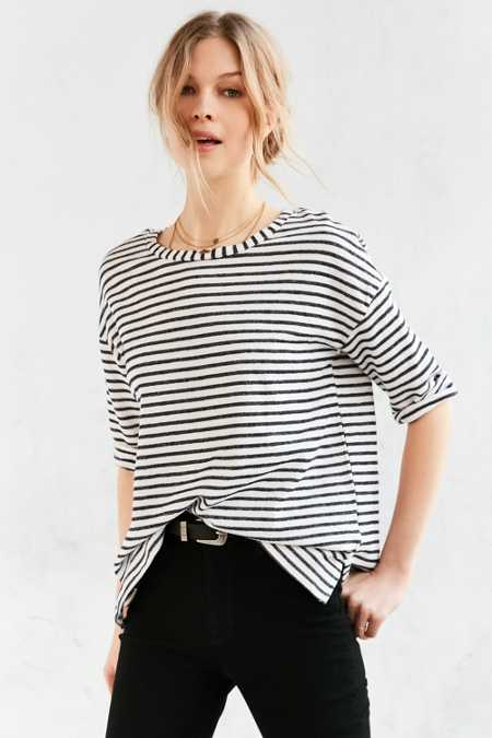 Project Social T Leighton Striped Pullover Shirt