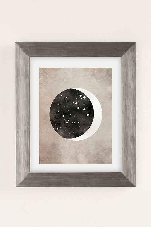 Claire Goodchild Moon & Stars Leo Art Print,SILVER MATTE FRAME,8X10