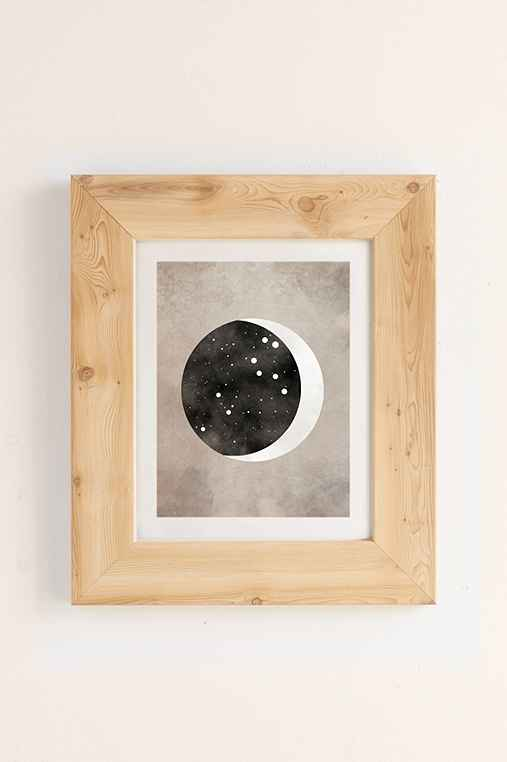Claire Goodchild Moon & Stars Leo Art Print,PINE,40X60