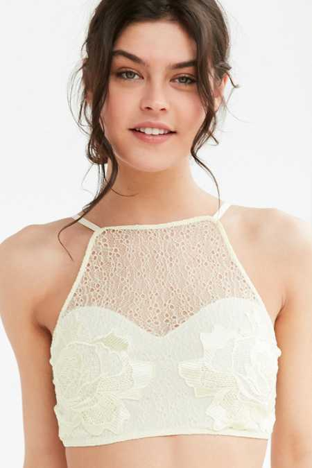 Out From Under Julia Lace Applique High Neck Bra