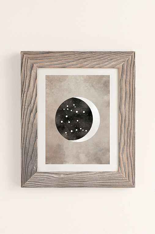 Claire Goodchild Moon & Stars Gemini Art Print,BUFF BARNWOOD,13X19