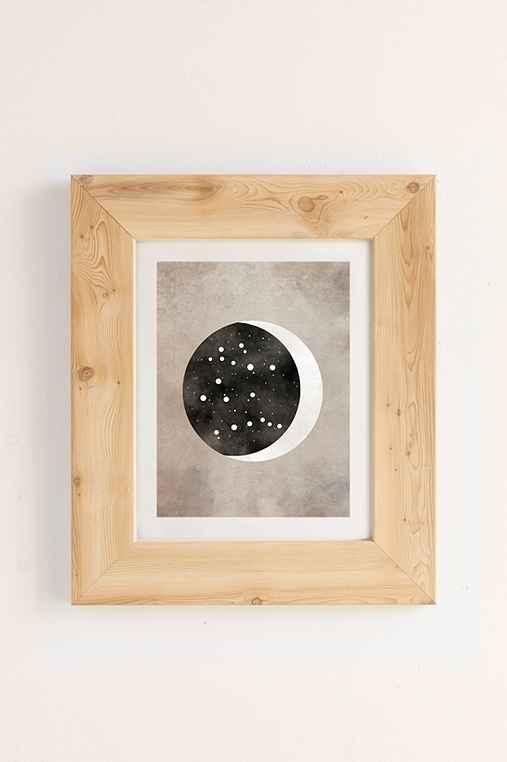Claire Goodchild Moon & Stars Gemini Art Print,PINE,8X10
