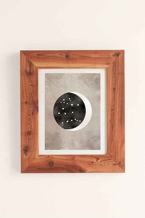 Claire Goodchild Moon & Stars Gemini Art Print,CEDAR,13X19
