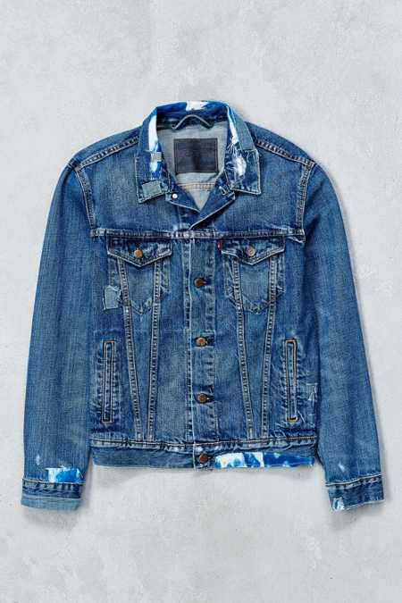 Levi's Shibori Repaired Denim Trucker Jacket