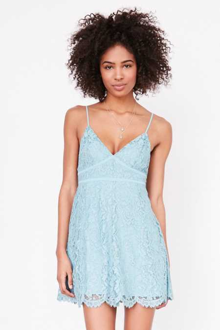 Kimchi Blue Valentina Empire Lace Mini Dress