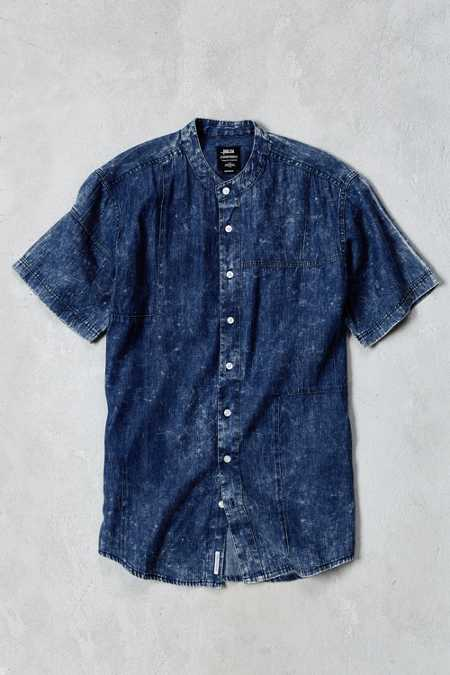Publish Camilo Denim Short-Sleeve Button-Down Shirt