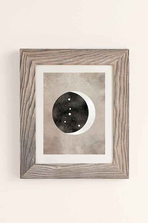 Claire Goodchild Moon & Stars Cancer Art Print,BUFF BARNWOOD,30X40