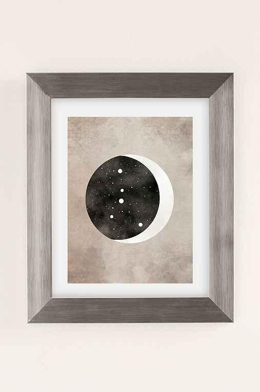 Claire Goodchild Moon & Stars Cancer Art Print,SILVER MATTE FRAME,8X10