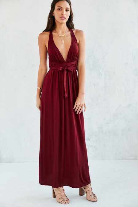 Ecote Strappy Back Wrap Maxi Dress