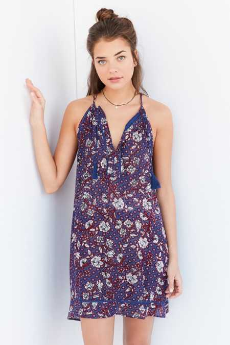 BOG Collective Floral Notch-Neck Frock Dress