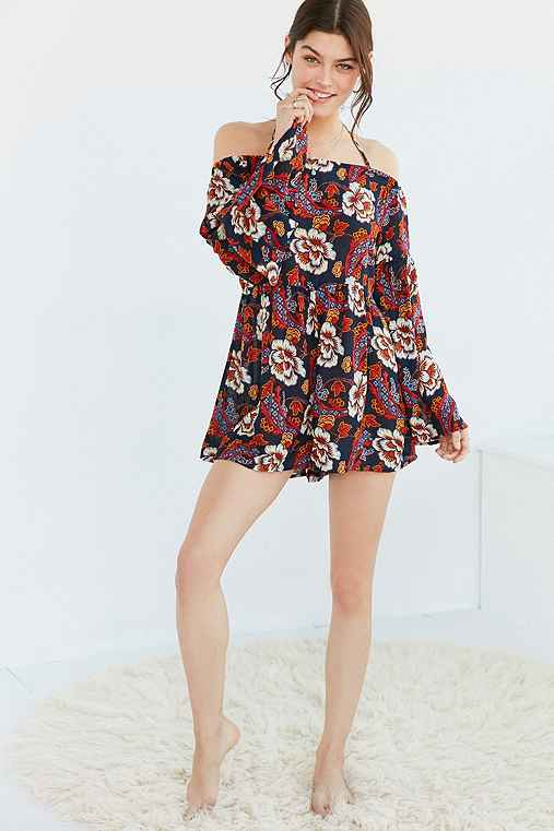 Out From Under Dreamy Days Gauze Romper,FLORAL,M