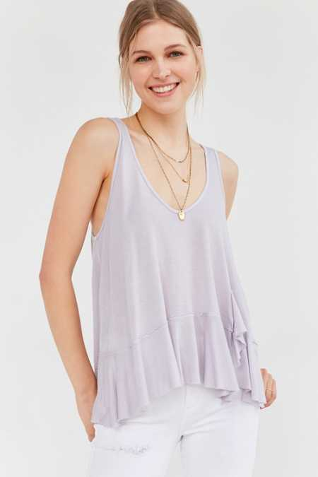 Truly Madly Deeply Ballerina Ruffle Tank Top