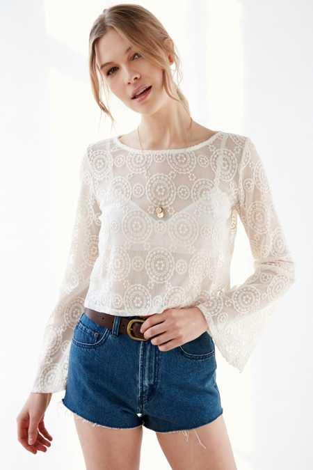 Ecote Daisy Bell-Sleeve Top