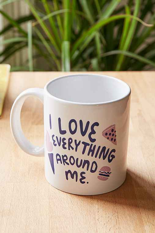 Love Everything Mug,PURPLE,ONE SIZE