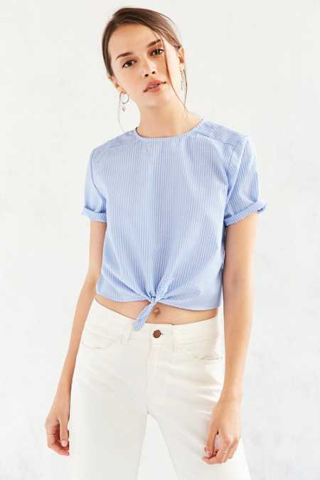 Lucca Couture Tie-Front Tee