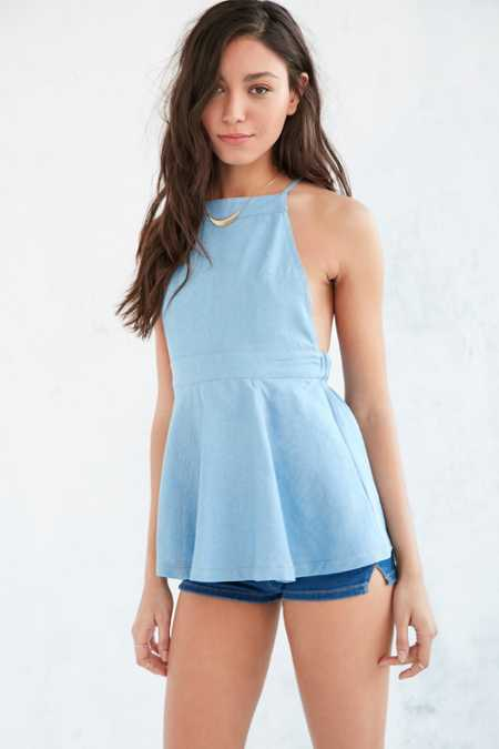 Cooperative Chambray Apron Tunic Top