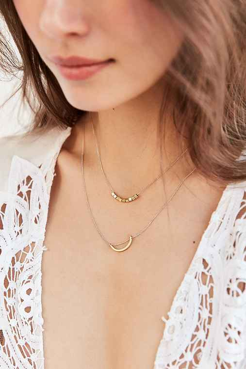 Evening Sun Layering Necklace Set,GOLD,ONE SIZE