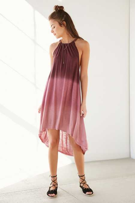 Ecote Hazelene Dyed High/Low Knit Dress