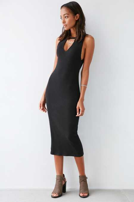 Silence + Noise Reba Cutout Mock-Neck Bodycon Dress