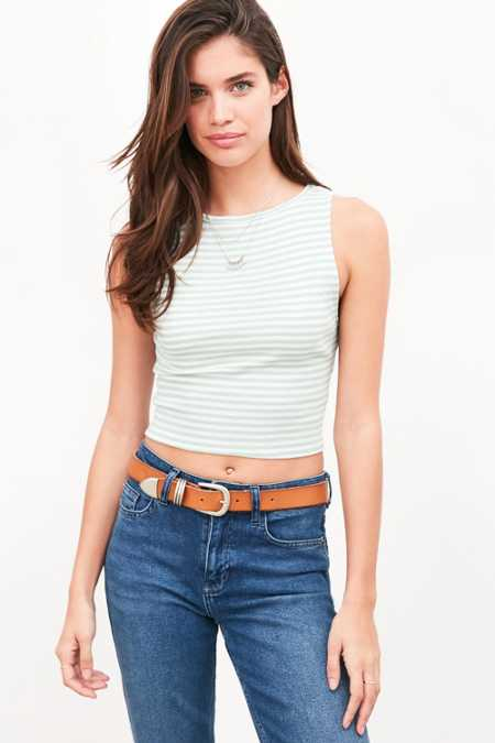 Truly Madly Deeply Joey Boat-Neck Tank Top