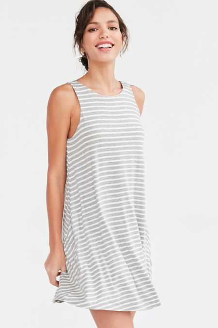 BDG Stripe Scoop-Back Dress