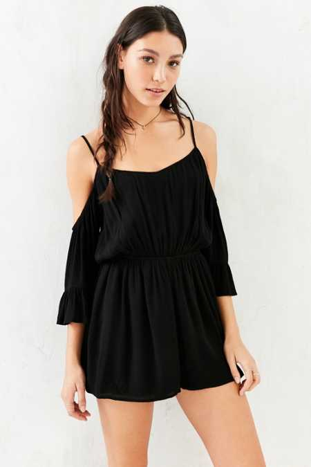 Kimchi Blue Off-The-Shoulder Romper
