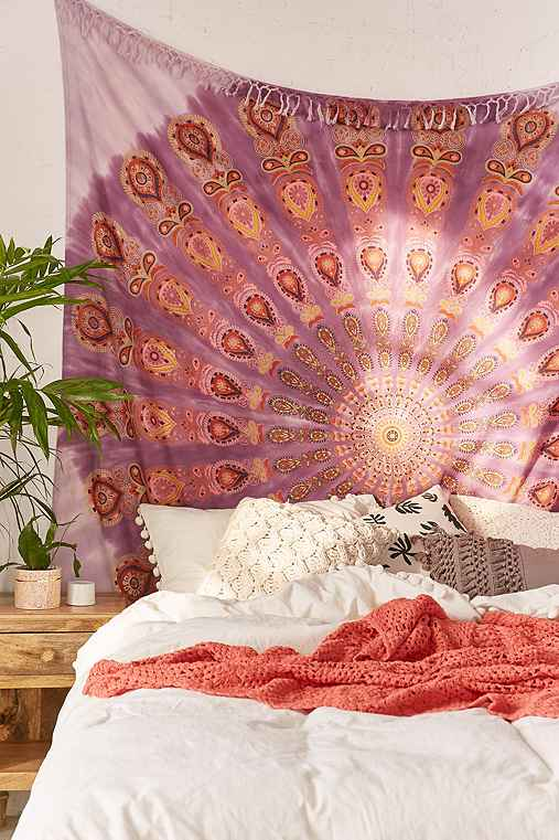 Daya Medallion Tapestry,PINK,ONE SIZE