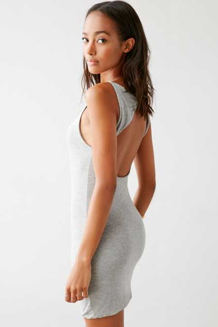 Silence + Noise Minimal Cutout Back Mini Dress