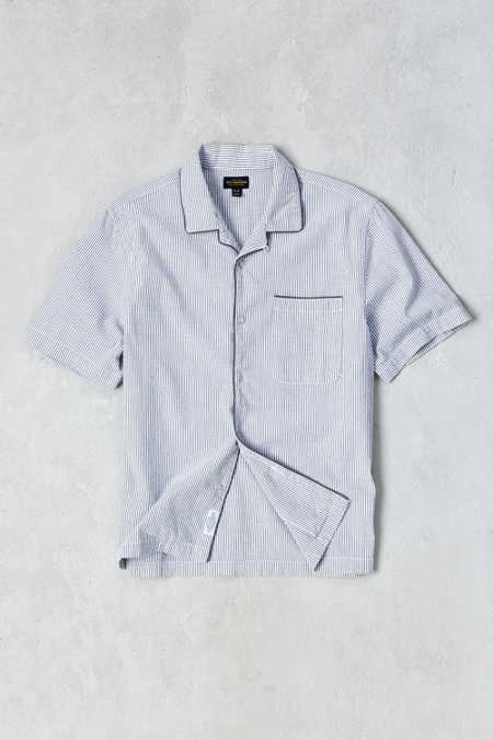 CPO Seersucker Striped Short-Sleeve Pajama Shirt
