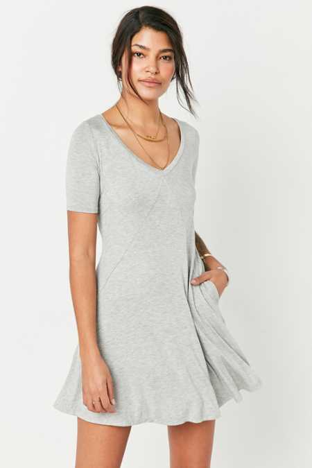 Silence + Noise Seamed Knit Frock Dress