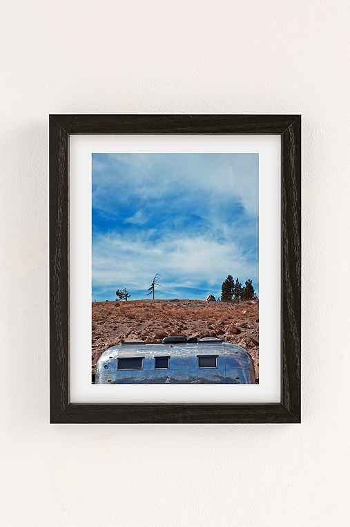 Carey Quinton Haider On The Road: Mt. Hood Oregon Art Print,BLACK WOOD FRAME,18X24